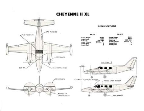 Cheyenne II XL Business Turboprop Specifications | Bangor ...