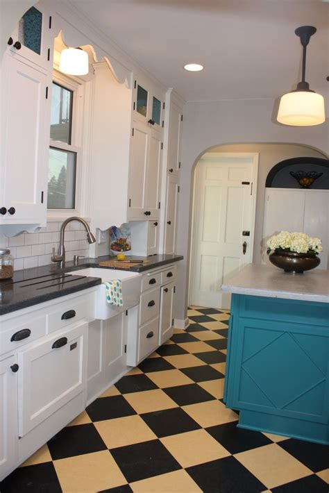 yellow kitchen floor 42 best remodel images on checkered floors 1218