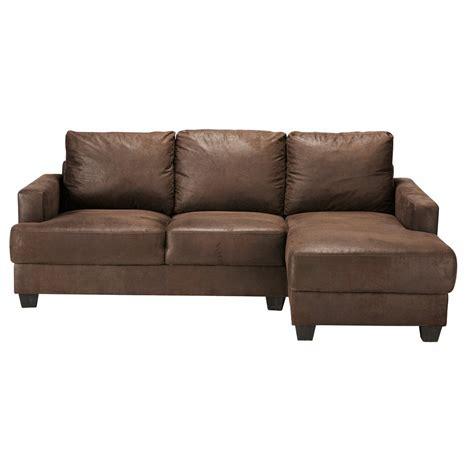 canape d angle en u canapé d 39 angle droit 3 4 places en suédine marron