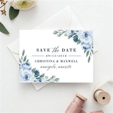 save  date template save  date printable dusty
