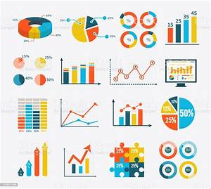 Infographic Set Graph And Charts Diagrams Stock