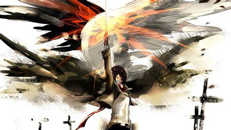 mikasa wallpaper shingeki  kyojin attack  titan
