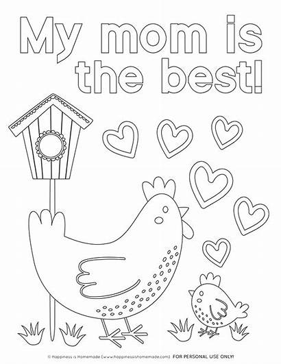 Coloring Pages Mother Mom Printables Mothers Chicken