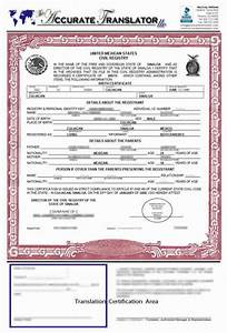 birth certificate translation template mexico templates With translation of mexican birth certificate to english template