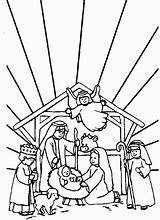 Crib Coloring Christmas Cliparts Scene Favorites Clipart sketch template