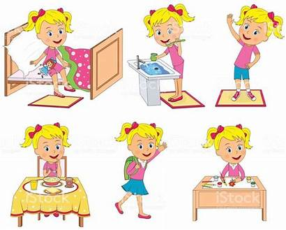 Routine Daily Vector Illustration Activities Chart Child