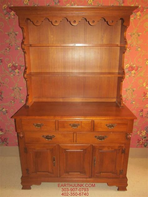 30007 solid maple furniture tell city republic china hutch rock andover