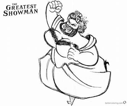 Showman Greatest Coloring Printable Draw Circus Lettie