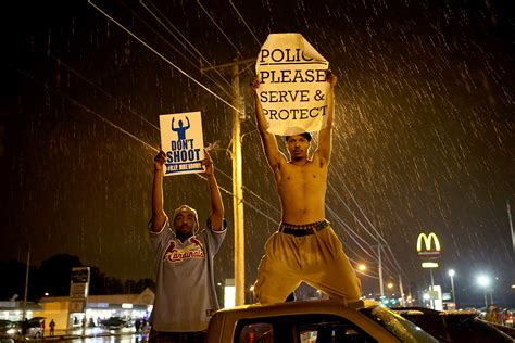 mike brown shooting   powerful ferguson protest signs