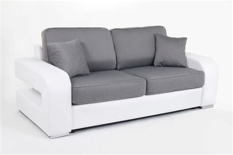 canapé couchage permanent canape convertible couchage 160 cm alban wilma blanc