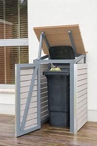 Müllbox Selber Bauen : m lltonnenbox selber bauen endzustand mit offenem deckel ~ Lizthompson.info Haus und Dekorationen