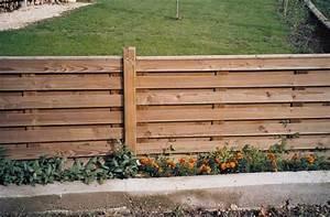 Panneau De Cloture En Bois : cloture basse a panneaux en bois ~ Premium-room.com Idées de Décoration