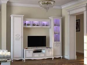 Barock Möbel Weiß : wohnwand via 4 tlg weiss creme klassik barock italienisch kaufen bei kapa m bel ~ Markanthonyermac.com Haus und Dekorationen