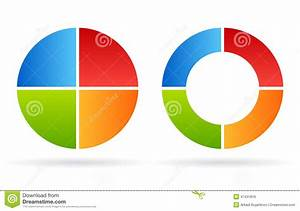 Four Part Cycle Diagram Stock Vector  Image Of Cycle