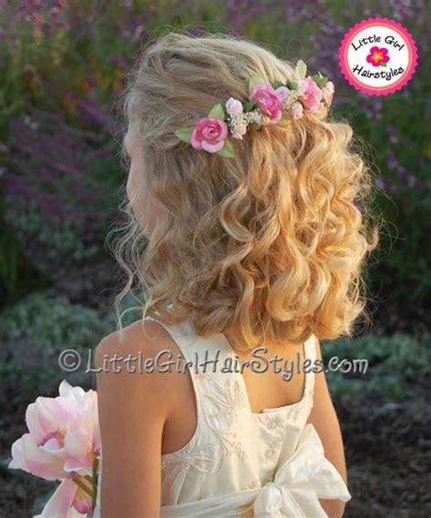 flower girl hairstyle ideas daisy bun photo