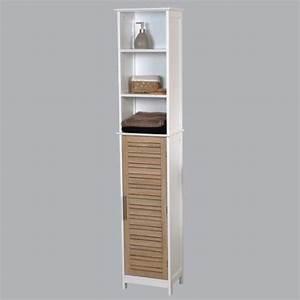 meuble colonne salle de bain stockholm bois achat With petit meuble colonne salle de bain