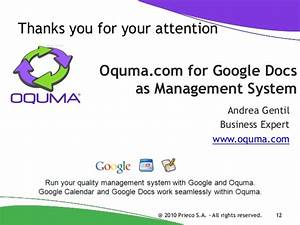 Oqumacom for google docs as management system for Google document management system