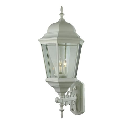 bel air lighting classical 3 light white outdoor wall mount lantern 51000 wh the home depot