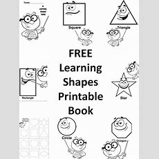 Free Learning Shapes Printable Preschool Book  Homeschool, Back To And Back To School