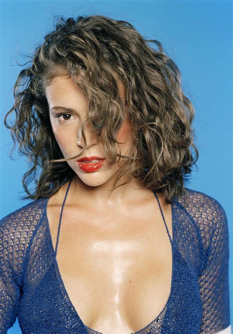 alyssa milano curly hair dvdbash99   DVDbash