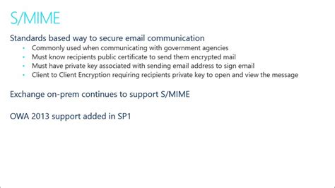 Encryption In Office 365 (04) Smime  Encryption In
