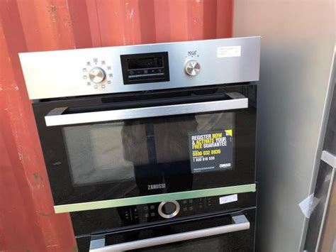 zanussi zkkxk built  compact combination microwave stainles safeer appliances