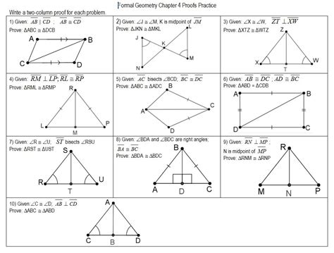 geometry proving triangles congruent worksheet answers