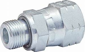 Male Stud Adaptor Metric Parallel With Rotary Nut Jic And