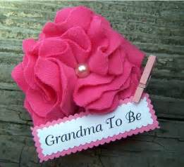 Baby Shower Grandma to Be Corsage