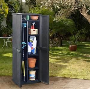 Abri De Jardin Plastique : armoire haute plastique anthracite ~ Edinachiropracticcenter.com Idées de Décoration