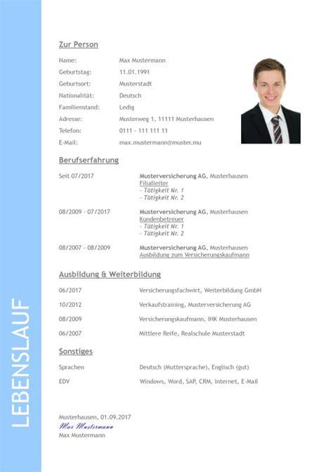 Lebenslauf Form by Applying In Germany Bewerbung Anschreiben Lebenslauf