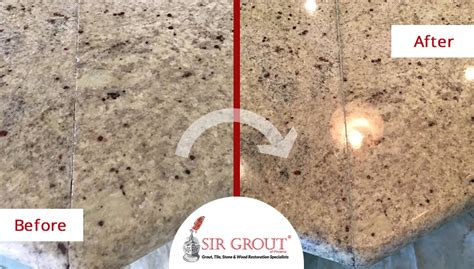 sealing marble countertops see how a sealing and seam repair made this granite 2140