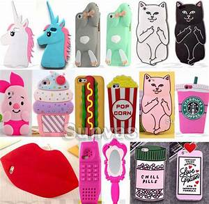 3D Cute Soft Silicone Phone Case Cover For iPhone 4/4S 5 ...