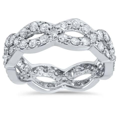 1 cttw diamond infinity eternity wedding anniversary ring