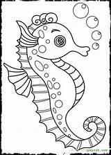 Seahorse Coloring Pages Cartoon Seahorses Drawing Realistic Printable Getdrawings Drawings Getcolorings sketch template