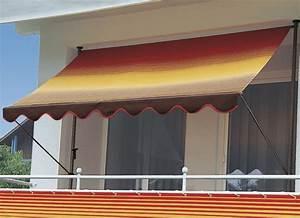 klemm markise mit innenliegendem kettenantrieb With markise balkon mit tapete gestreift blau