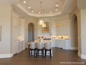 Octagon Tray Ceiling Transitional Kitchen Caitlin