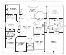 one level house plans with porch traditional plan 2 525 square 4 bedrooms 3 bathrooms 110 00585