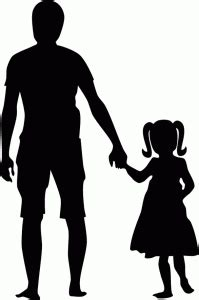 Father & daughter holding hands silhouette | Hand silhouette, Father daughter tattoos, Silhouette