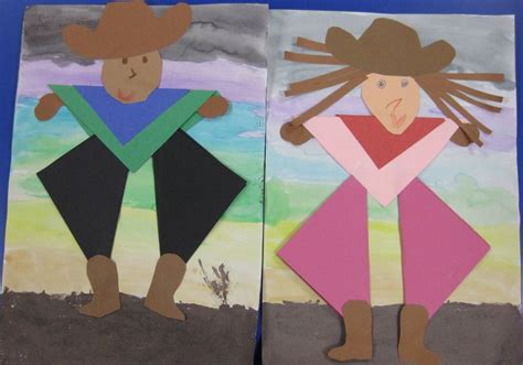 243 best images about k 6 collage lessons on 718 | f3187598faaf58661548975610adc1be kindergarten art western cowboy