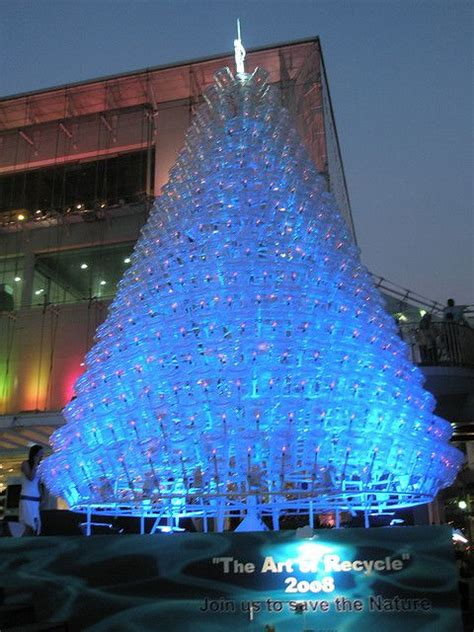 christmas trees made of bottles trashmas water bottles tree and bottle