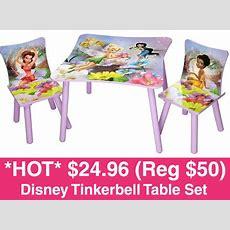 *hot* $2496 (reg $50) Tinkerbell Table + Chair Set