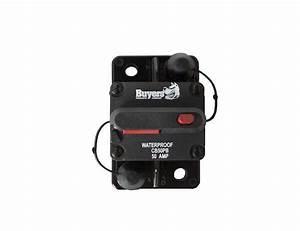 Circuit Breaker 50 Amp Manual Trip Push