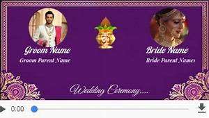 free indian invitation cards video maker online With whatsapp wedding invitation maker online