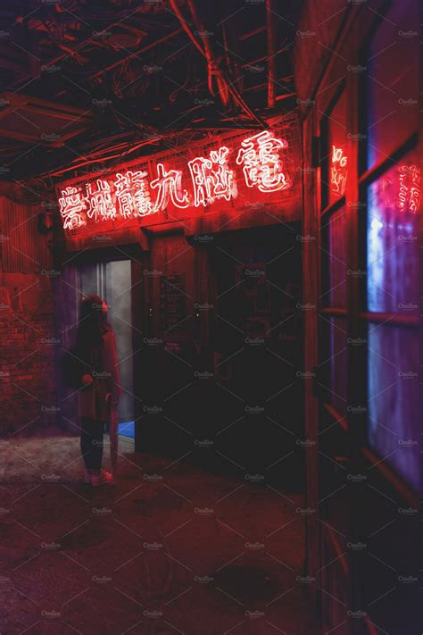 tokyo neon lights  creative market