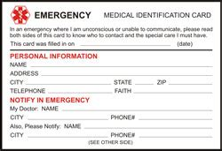 Alert Card Template by Free Printable Id Cards Id Wallet Size