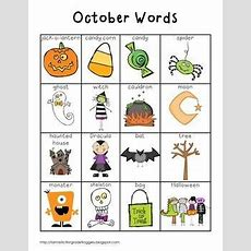October Words  Fantastic First Grade Froggies  Halloween Vocabulary, Preschool Writing