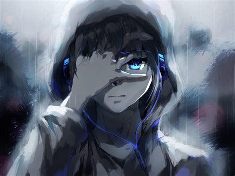 Anime Vire Boy Wallpaper - 2048x1536 anime boy hoodie blue