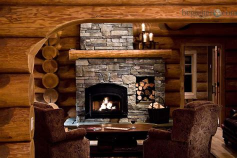 Interior Log Home Fireplace Listed European-bestofhouse