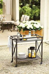 outdoor bar cart Update Your Bar Cart for Outdoor Entertaining - How To ...